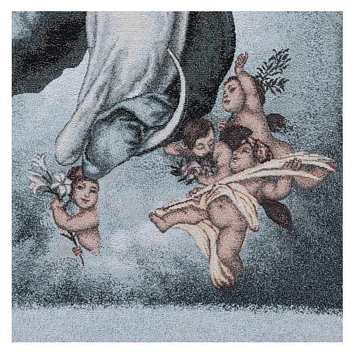 Coprileggio Vergine Maria Immacolata ricamato sfondo azzurro 3
