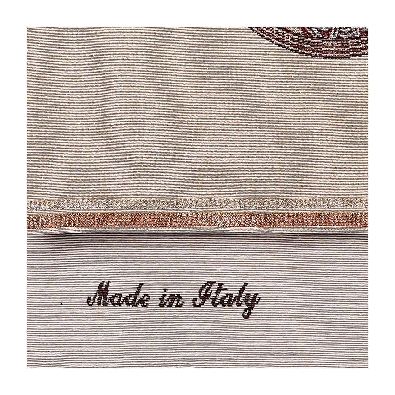 Paño de atril Virgen de Loreto bordada en un tejido marfil 4