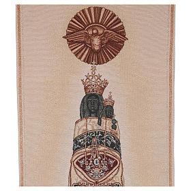 Paño de atril Virgen de Loreto bordada en un tejido marfil s2