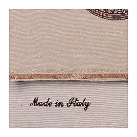 Paño de atril Virgen de Loreto bordada en un tejido marfil s4
