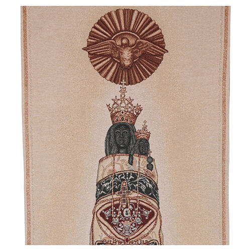 Ivory embroidered pulpit cover of Our Lady of Loreto 2
