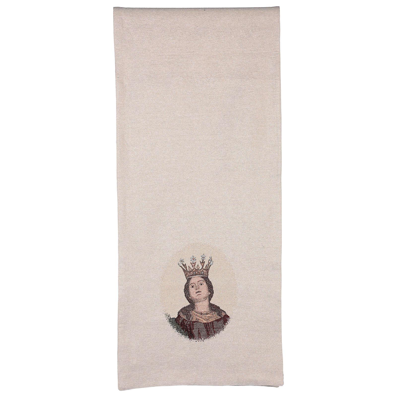 Paño de atril Santa Barbara bordado marfil algodón lurex  4
