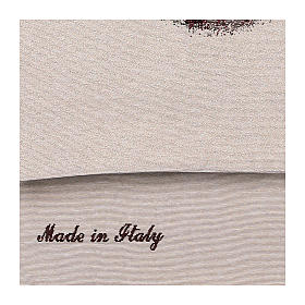 Paño de atril Santa Barbara bordado marfil algodón lurex  s4