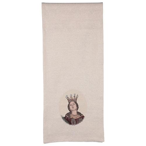 Paño de atril Santa Barbara bordado marfil algodón lurex  3