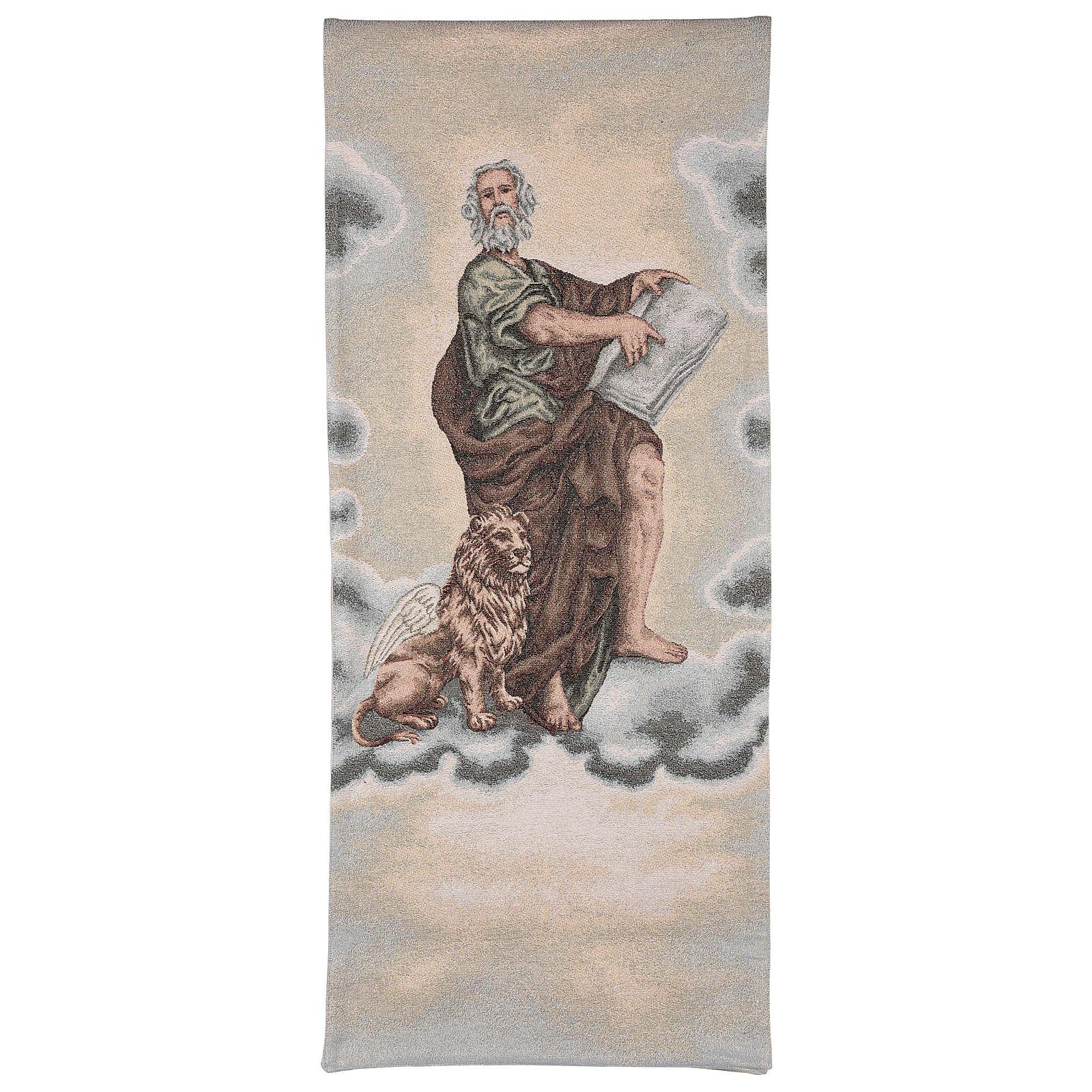 Paño de atril San Marco Evangelista con león alado marfil 4