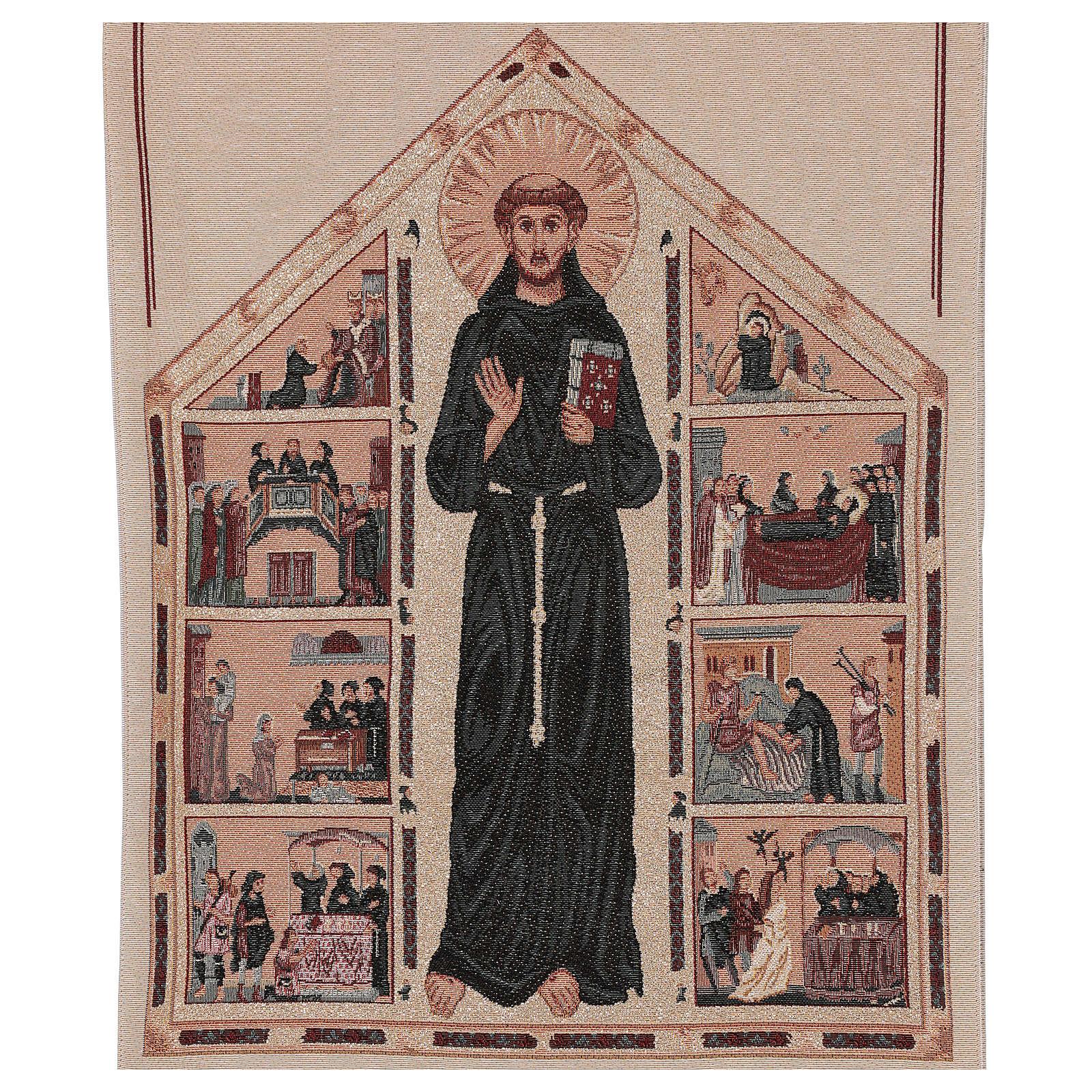 Coprileggio lamè S.Antonio e scene della vita avorio 4