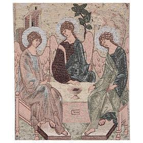 Voile de lutrin Trinité de Roublev brodé sur tissu couleur ivoire s2
