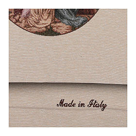 Paño de atril Jesús con los niños algodón lurex marfil s4