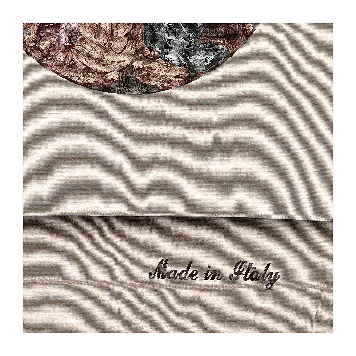 Voile de lutrin Jésus avec enfants coton lurex couleur ivoire 4