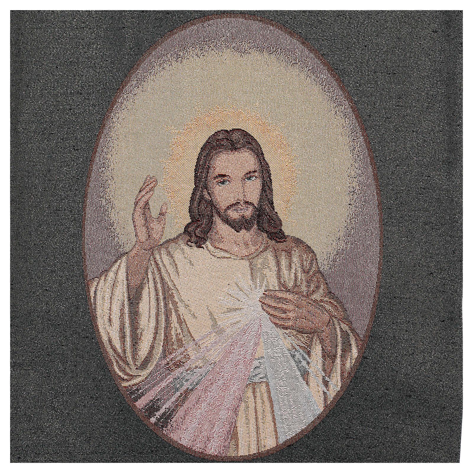 Coprileggio Gesù misericordioso color azzurro 4