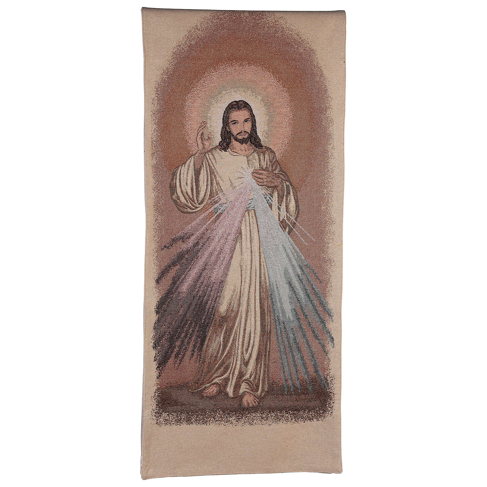 Paño de atril Jesús misericordioso color marfil 4