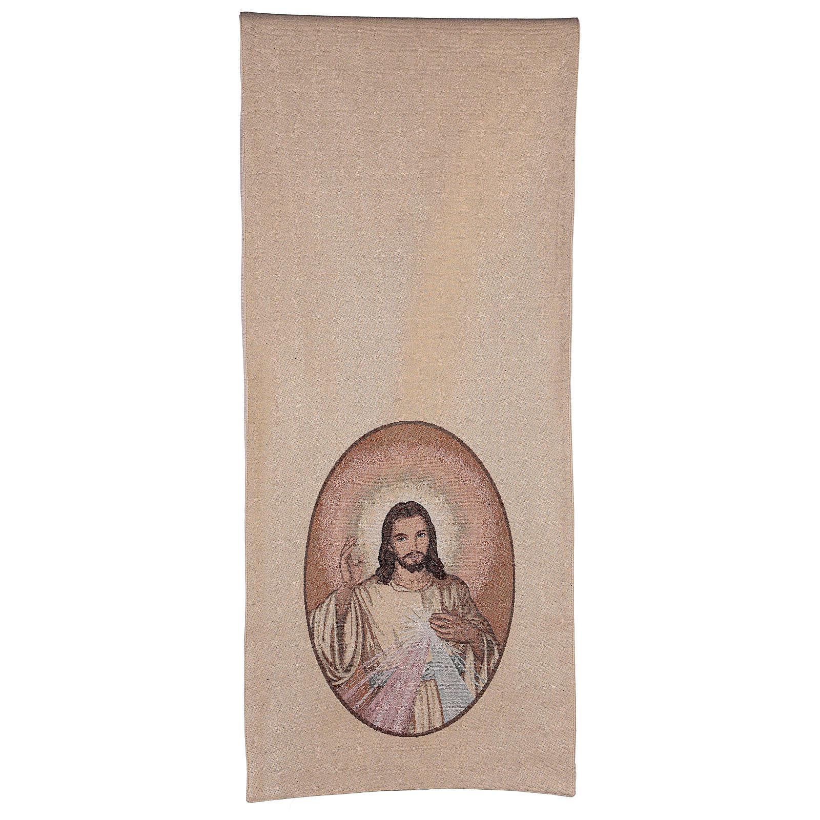 Coprileggio Gesù misericordioso color avorio 4