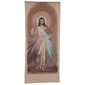 Coprileggio Gesù misericordioso color avorio s1