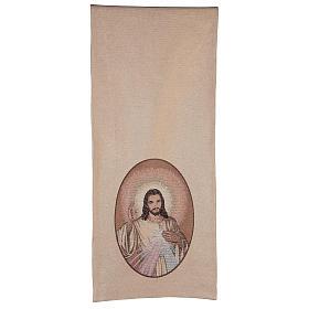 Coprileggio Gesù misericordioso color avorio s3