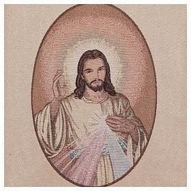 Coprileggio Gesù misericordioso color avorio s4
