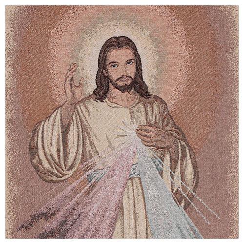 Coprileggio Gesù misericordioso color avorio 2