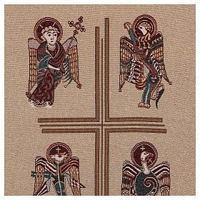 Paño de atril Cuatro Evangelistas de lamé con relieve s5