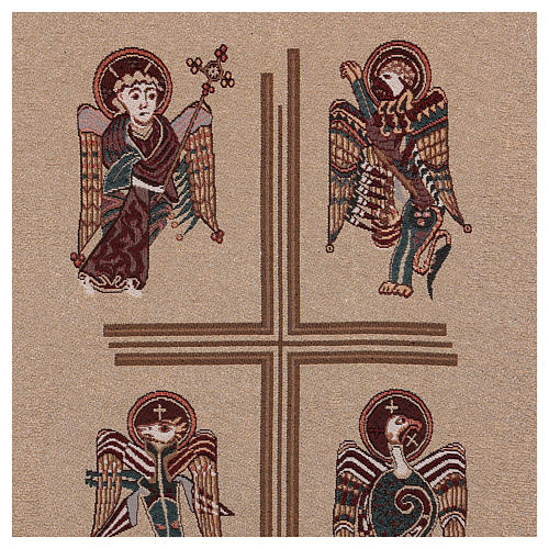 Paño de atril Cuatro Evangelistas de lamé con relieve 5
