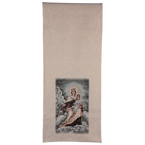 Coprileggio Madonna del Carmelo color avorio 3