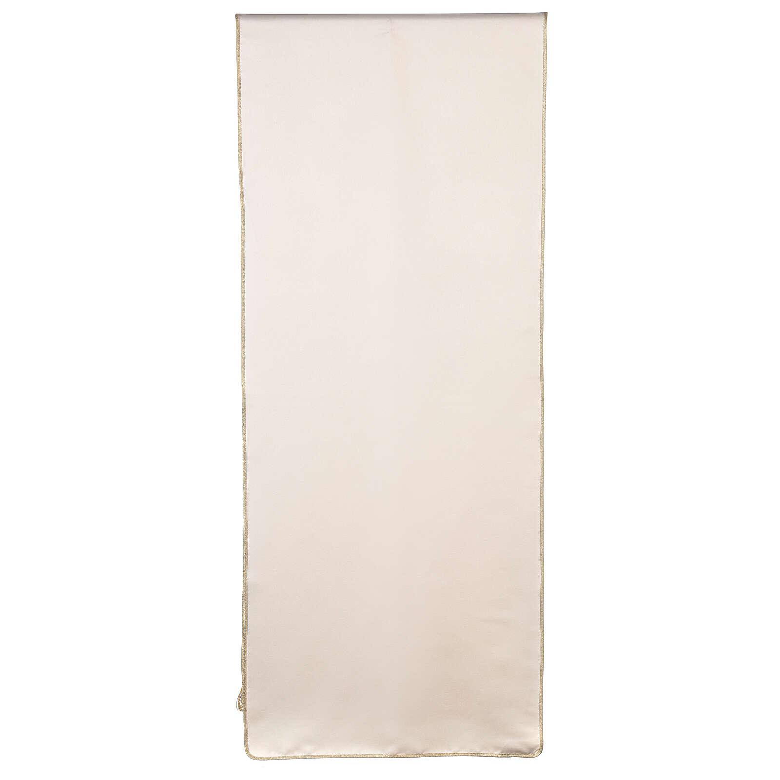 Voile de lutrin marial broderie satin 100% polyester 4
