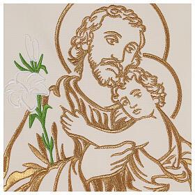 Paño de atril bordado San José colores litúrgicos 100% poliéster