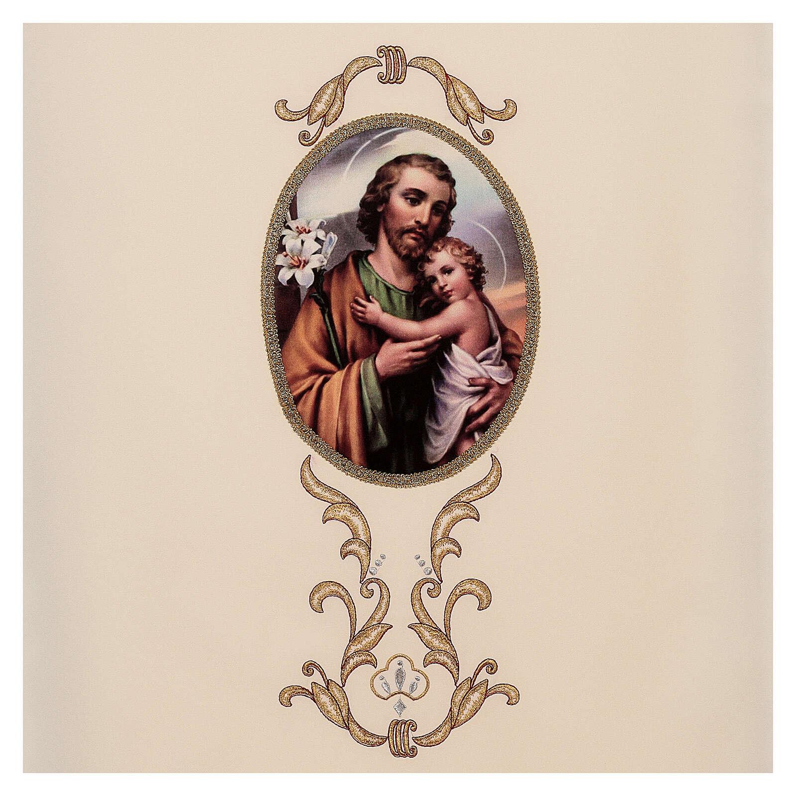 Paño de atril San José colores litúrgicos 100% poliéster 4