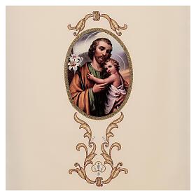 Paño de atril San José colores litúrgicos 100% poliéster