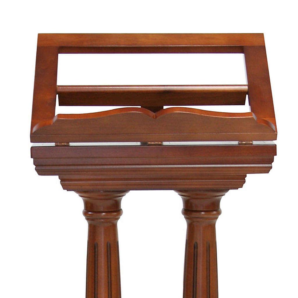 lutrin bois en colonne double