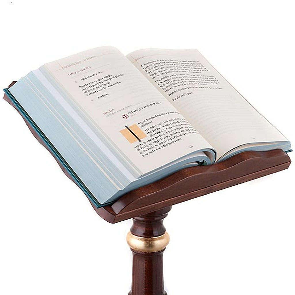 Leggio a colonna legno decori dorati 4