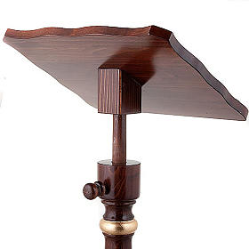 Golden decorated wood lectern s3