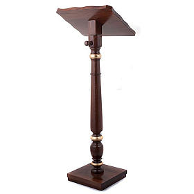 Golden decorated wood lectern s4