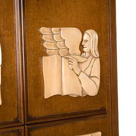 Ambón madera de nogal símbolo 4 evangelistas s4
