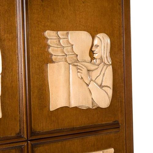 Ambón madera de nogal símbolo 4 evangelistas 4