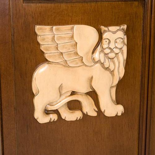 Ambón madera de nogal símbolo 4 evangelistas 6