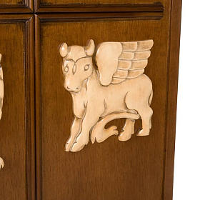 Ambone legno di noce simboli 4 evangelisti s5