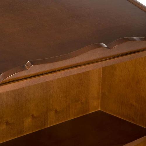 Ambone legno di noce simboli 4 evangelisti 7