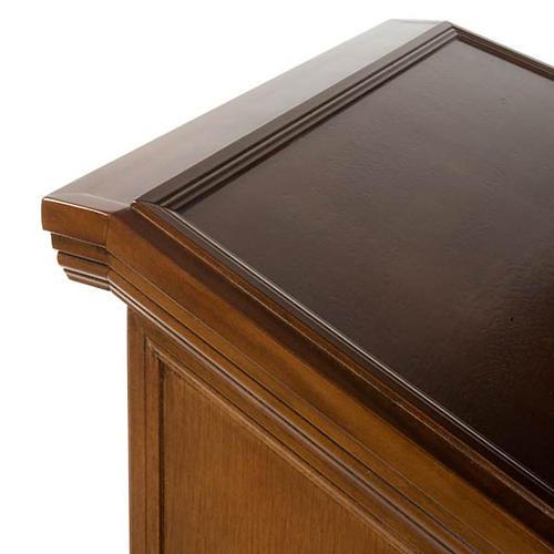 Ambone legno di noce simboli 4 evangelisti 8