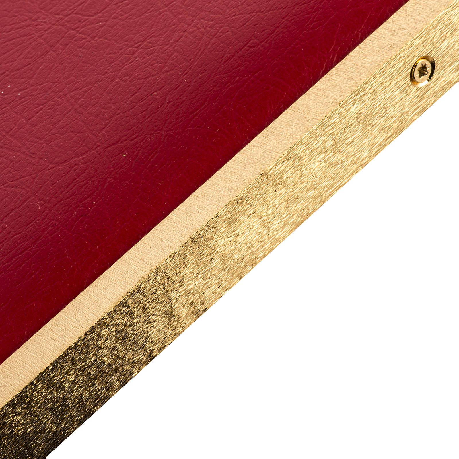 Atril de latón fundido dorado 4
