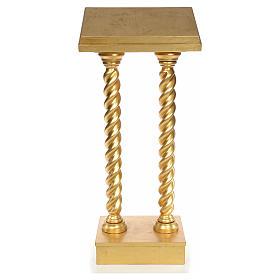Leggio in faggio due colonne torciglione foglia oro s1