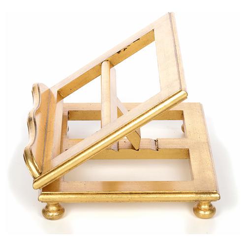 Leggio da tavolo in faggio foglia oro 3
