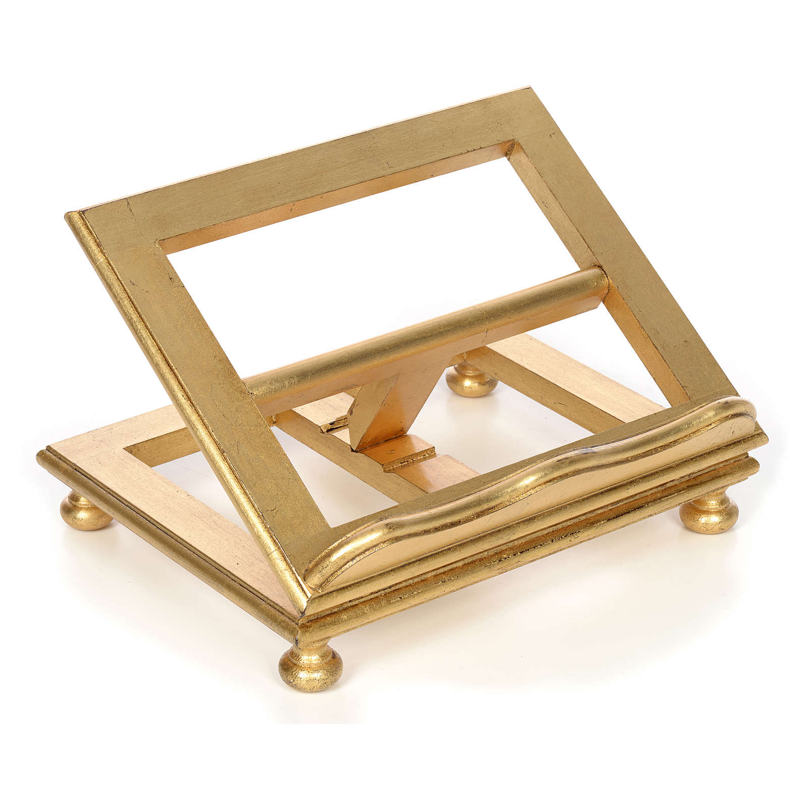 Book stand in beech wood with gold leaf 4