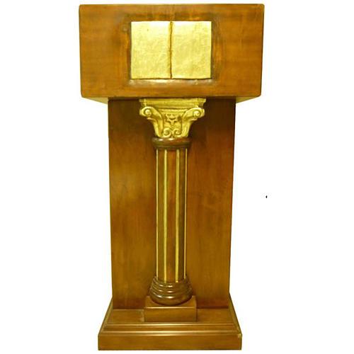 Ambone con capitello a colonna foglia oro 140x60x45 cm 1