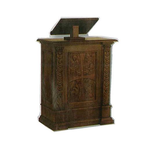 Ambone legno massiccio intagliato a mano 126x85x45 1