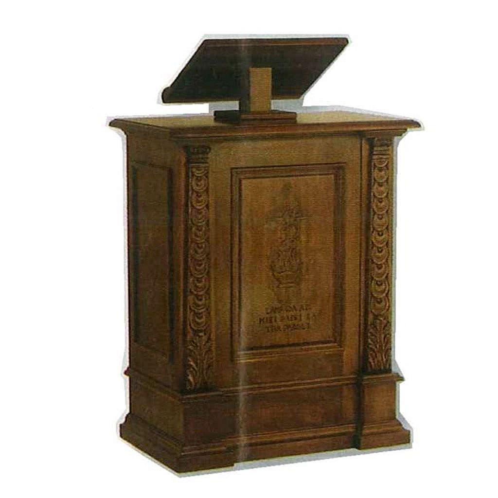 Ambón de madera maciza, hecho a mano 126x85x45cm 4