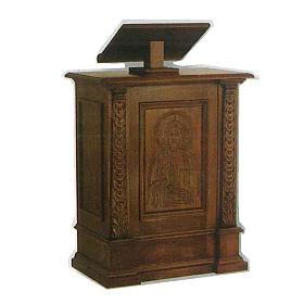 Ambona z litego drewna rzeźbionego ręcznie 126x85x45 cm s1