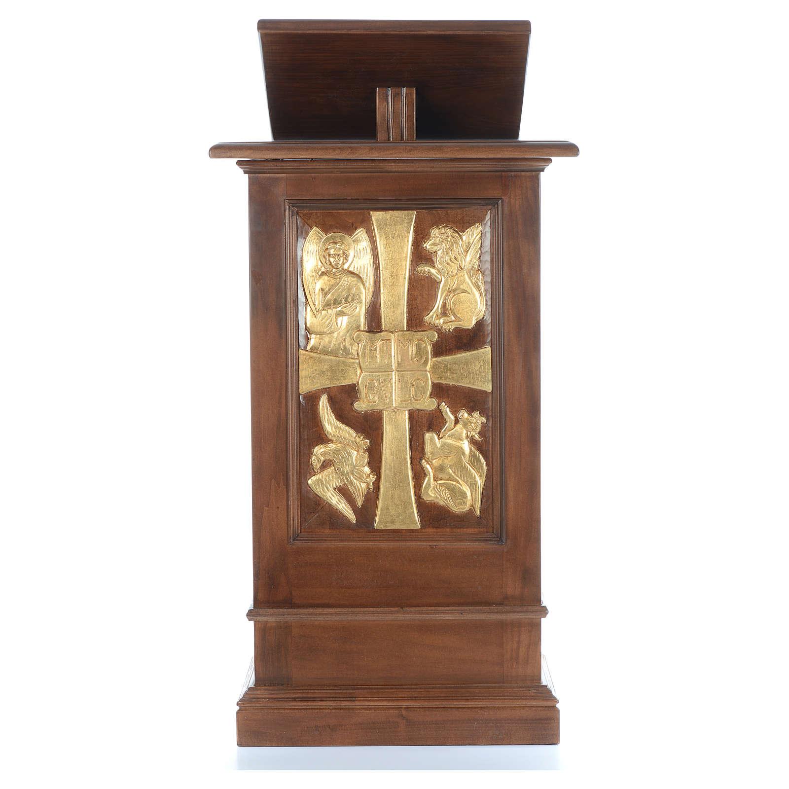 Ambone interamente in legno massello intaglio a mano h 125 cm 4