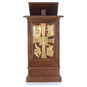 Ambone interamente in legno massello intaglio a mano h 125 cm s1