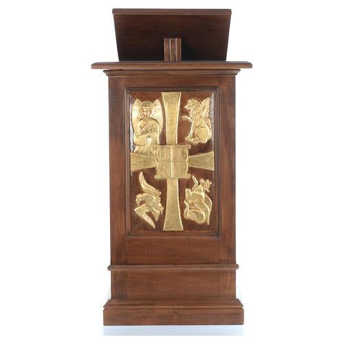 Ambone interamente in legno massello intaglio a mano h 125 cm 1