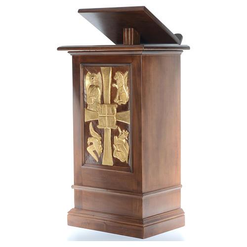Ambone interamente in legno massello intaglio a mano h 125 cm 2