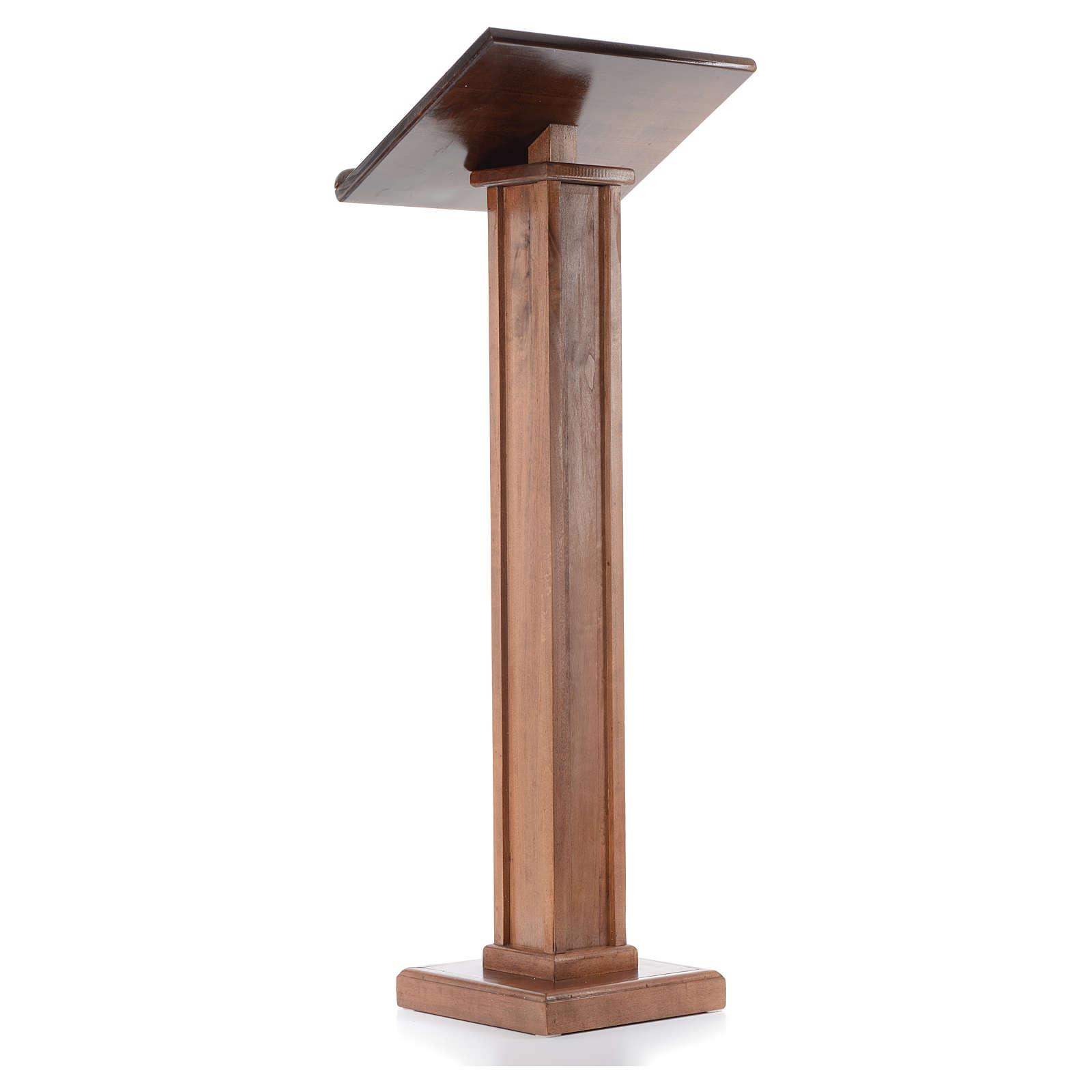 Leggio a colonna legno altezza regolabile 120x45x34 cm 4